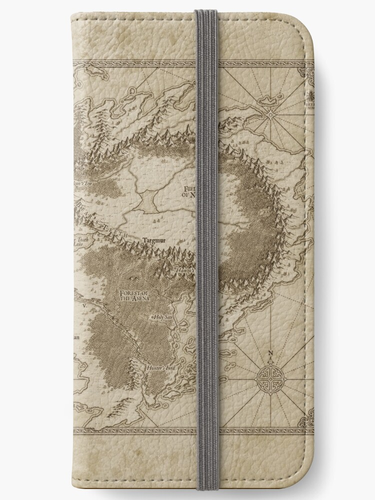 Example of the Altaica map printed on a mobile phone folio case